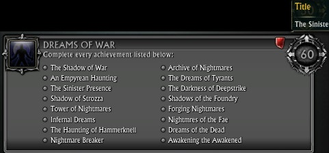 Dreams of War Achievement