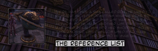 Rift Reference List