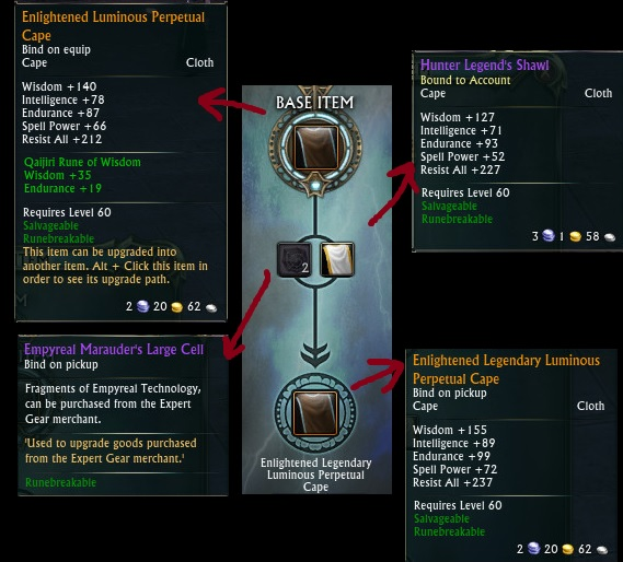 Patch 2.6 Relic Cape Upgrade