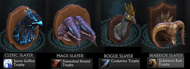 Rift Bounty System Class Slayer Wall Mounts