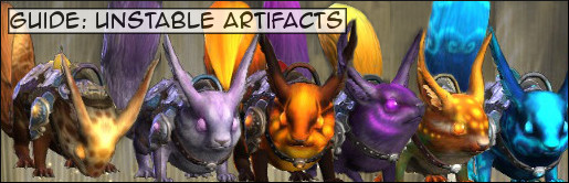Guide Unstable Aritfact Banner