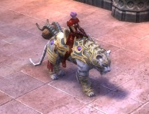 RIFT Armored White War Tiger Mount