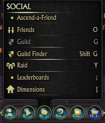 Ascend a Friend Mini Menu