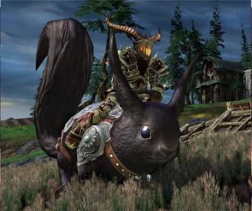 RIFT Black Dire Riding Squirrel Mount
