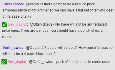 Daglar on 2.7 Souls Cost