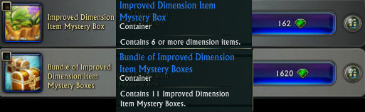 Improved Dimension Item Mystery Box