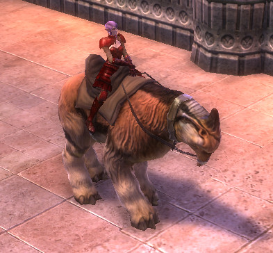 RIFT Striped Yarnosaur Leash (Escalating) Mount