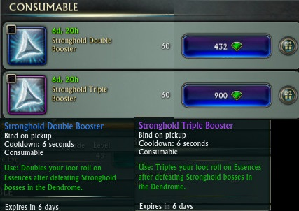 Rift Stronghold Boosters