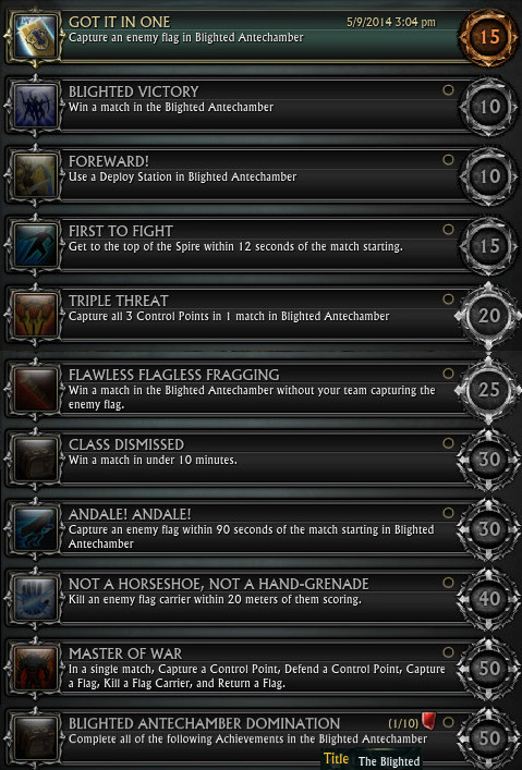 Blighted Antechamber Achievements