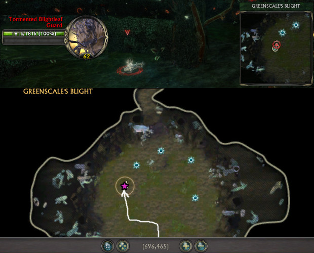 Intrepid Greenscales Blight Chronicle Sinister Presence Location