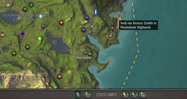 Kovoro Zarlith Location