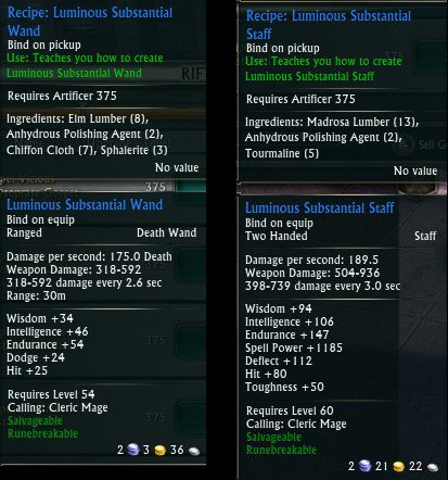 Mage Tank Crafted Gear Wand Staff