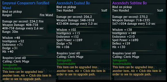 Mage Tank Gear Staves