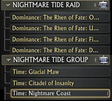 Nightmare Tide Leaderboards