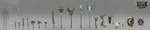 RIFT 3.0 Nightmare Tide Weapons Concept Art