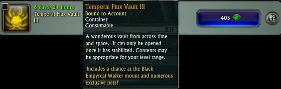 Temporal Flux Vault III