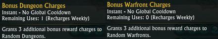 Bonus Warfront Dungeon Charges Patron