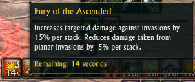 Fury of the Ascended Stacking Buff