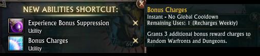 Patron Bonus Charges Ability