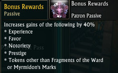 Patron Bonus Rewards Passive