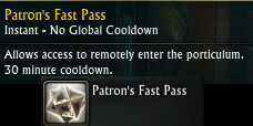 Patron Fast Pass Ability