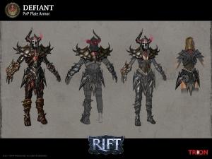 RIFT PVP Defiant Warrior Armor Concept Art