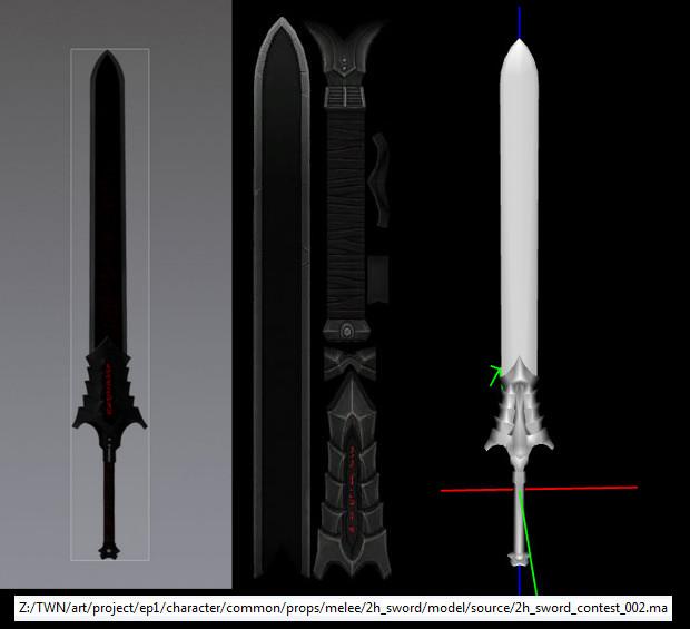 RIFT Concept Art Artur 2handed Sword