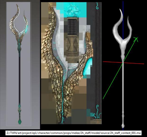 RIFT Concept Art Likatnes 2handed Staff