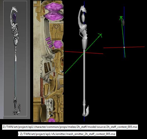 RIFT Concept Art Mazzarah 2handed Staff