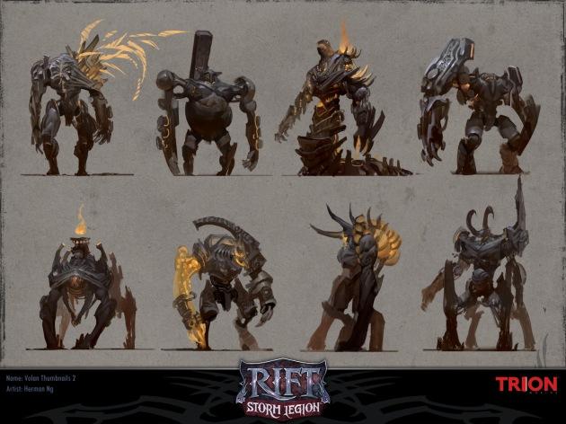 RIFT Concept Art - Volan Iterations 2