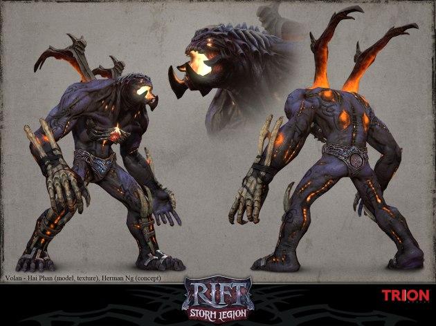 RIFT Concept Art - Volan Unarmored Model