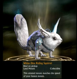 RIFT White Dire Riding Squirrel Mount