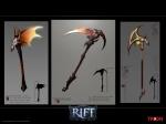 RIFT Infernal Dawn Axes Concept Art