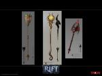 RIFT Infernal Dawn Staves Concept Art