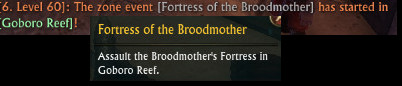 Fortress of the Broodmother Announcement Goboro Reef