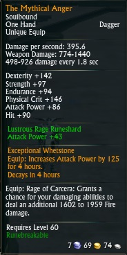 Mythical Anger Maelforge Drop