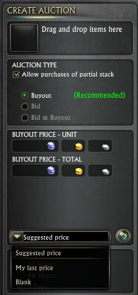 Price Default Drop-down