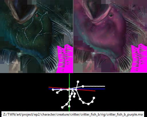 RIFT 3.0 Critter Fish B Skins and Rig