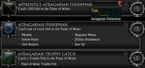 RIFT 3.0 Fishing Achievements