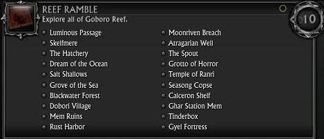 RIFT 3.0 Goboro Reef Locations Achievement