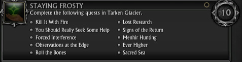 RIFT 3.0 More Tarken Glacier Achievements