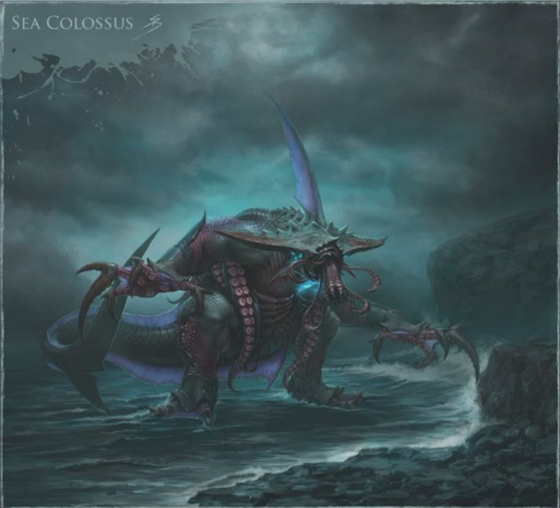 RIFT 3.0: Artworks Rift-3-0-sea-colossus-concept-art