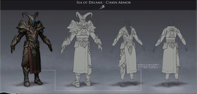 RIFT 3.0 Sea of Dreams Chain Armor Concept Art