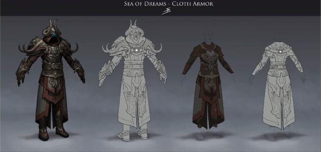 RIFT 3.0 Sea of Dreams Cloth Armor Concept Art