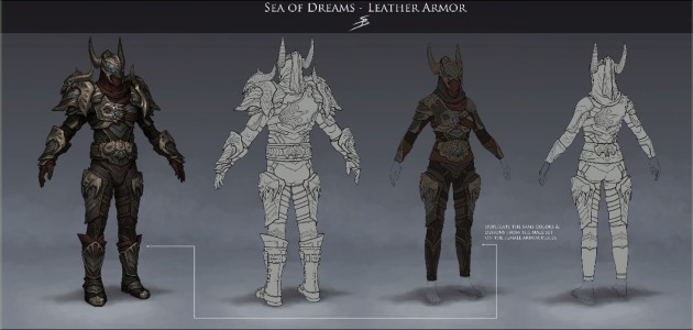 RIFT 3.0 Sea of Dreams Leather Armor Concept Art