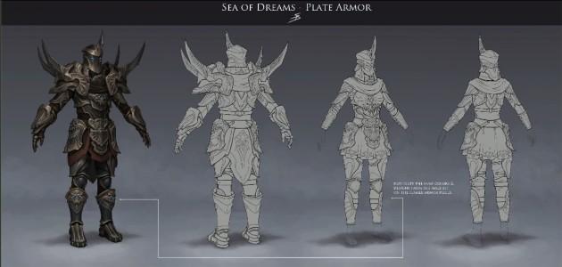 RIFT 3.0 Sea of Dreams Plate Armor Concept Art