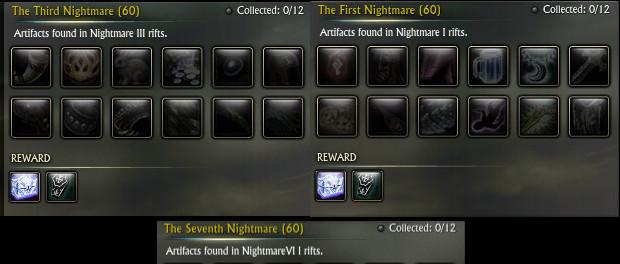 The Nightmare Artifact Sets