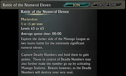 Battle of the Numeral Eleven Objective