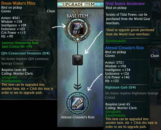 Dream Walker Upgrade to Abyssal Crusader