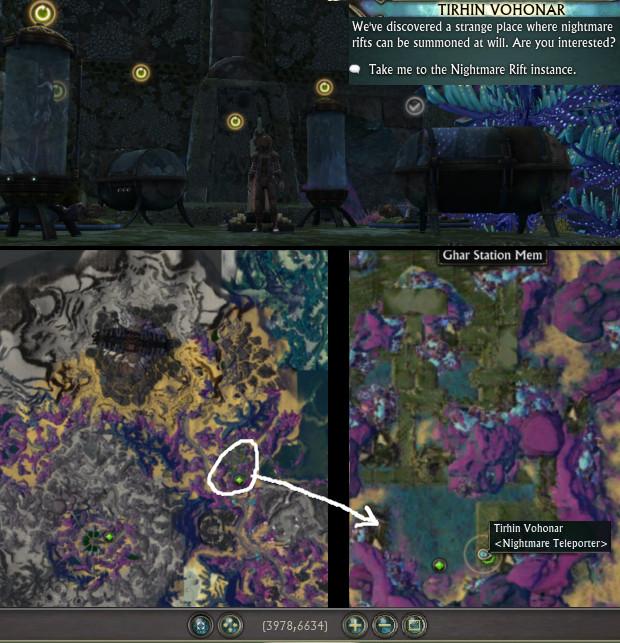 Location Tirhin Vohonar Nightmare Rift Instance NPC